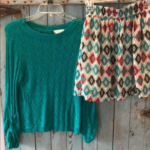 Fall Top and skirt (outfit)